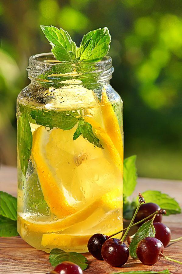 Food съемка - лимонад в банке