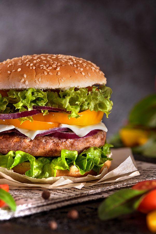 Food съемка - большой гамбургер