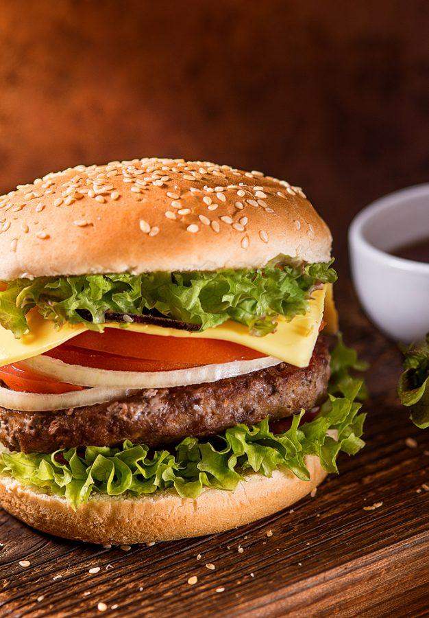 Food съемка - гамбургер