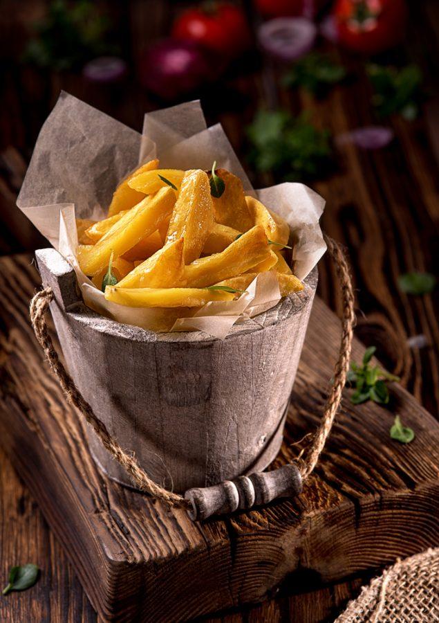 фотография фаст-фуда (картофель фри)
